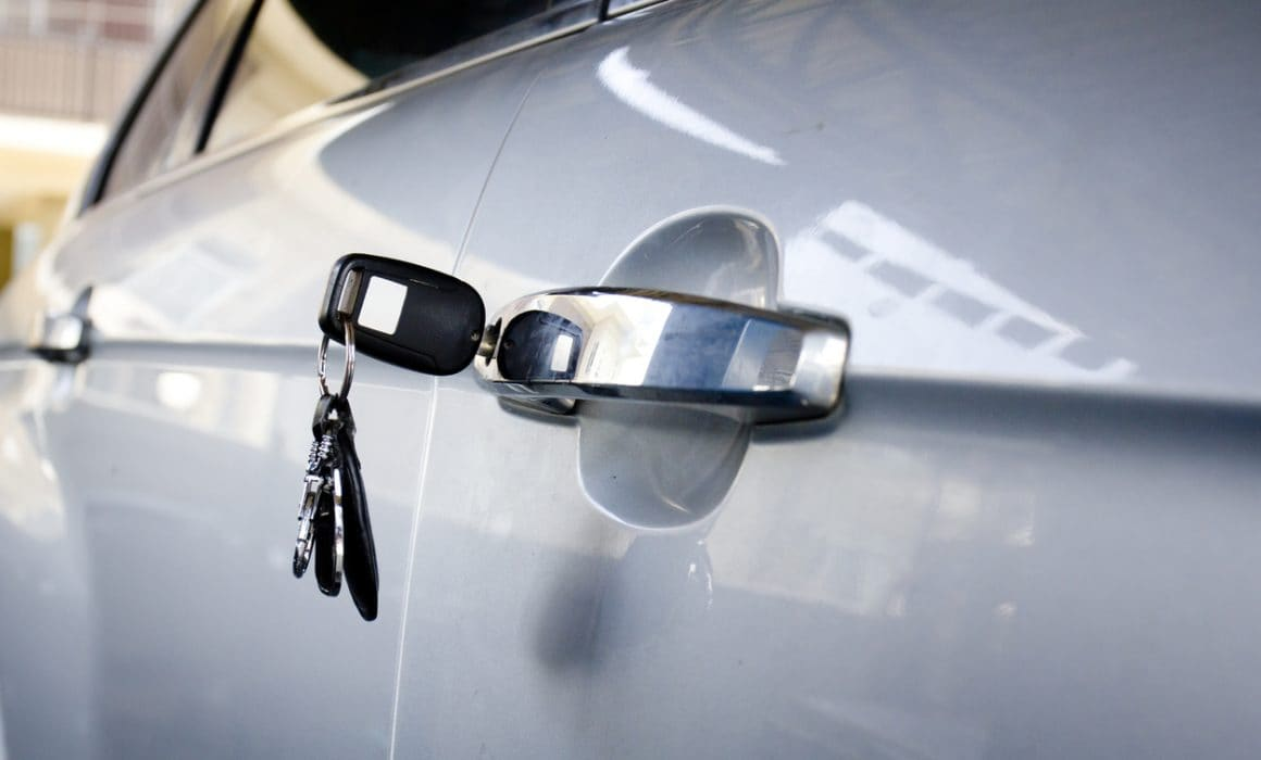 Image of car with keys