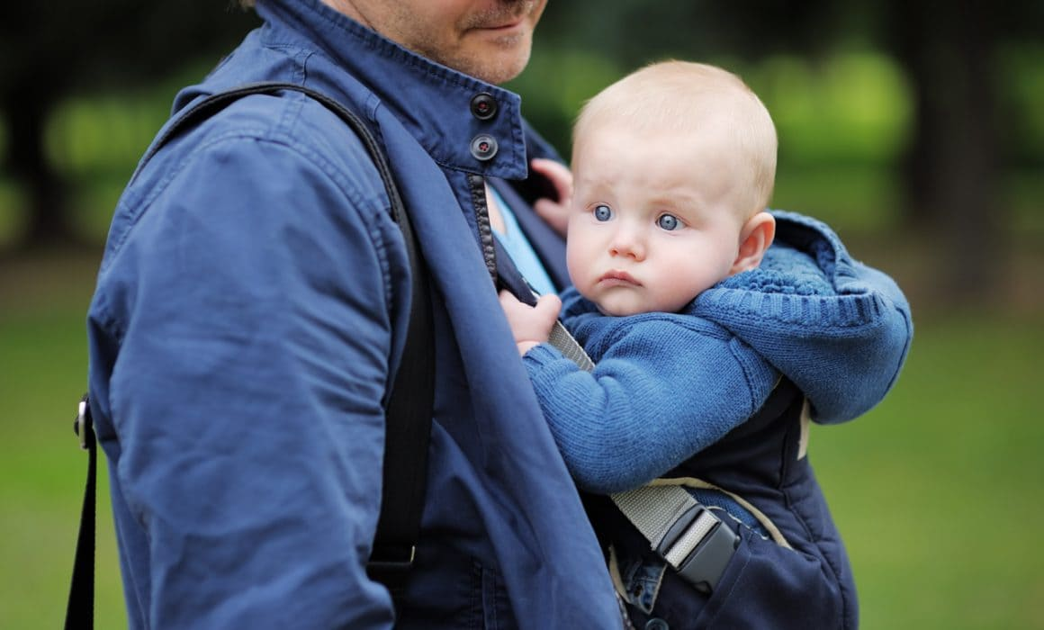 Image of a baby in a carrier